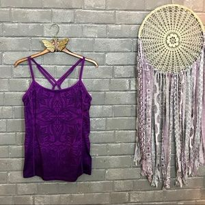 athleta // violet purple ombré paisley tank top s
